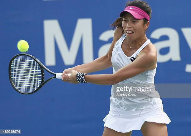 SuWei Hsieh of Chinese Taipei in action during day two of the BMW Malaysian Open at the Royal Selangor Golf Club Tennis Centre Court on March 3 2015...