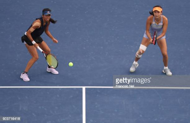 SuWei Hsieh of Taiwan and Shuai Peng of China in actoin against HaoChing Chan of Taiwan and Zhaoxuan Yang of China in the Women's Doubles Final match...