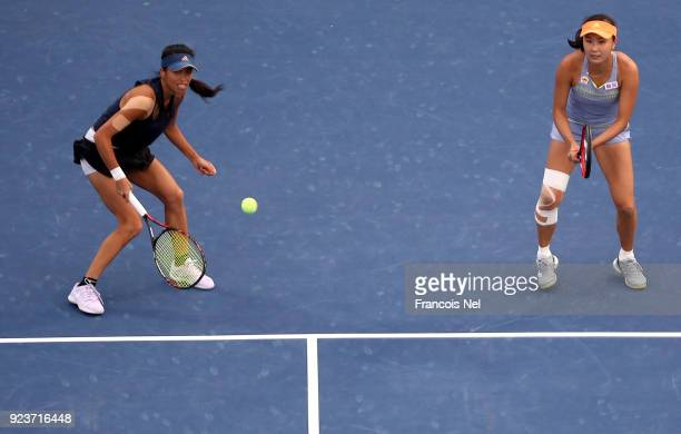 SuWei Hsieh of Taiwan and Shuai Peng of China in actoin against HaoChing Chan of Taiwan and Zhaoxuan Yang of China in the Women's Doubles Final match...