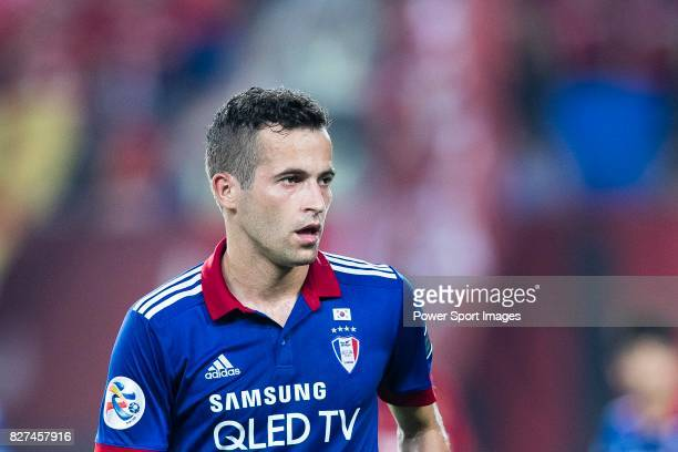 Suwon Midfielder Damir Sovsic in action during the AFC Champions League 2017 Group G match between Guangzhou Evergrande FC vs Suwon Samsung Bluewings...