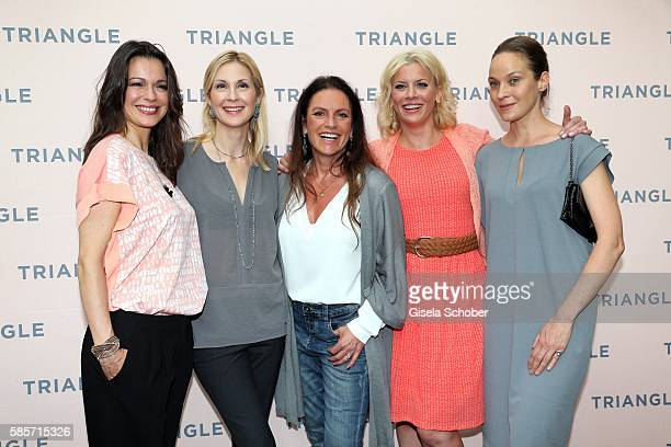Suzan Anbeh, Kelly Rutherford, Christine Neubauer, Eva Habermann and Jeanette Hain during the TRIANGLE store opening at Riem Arcaden on August 3,...