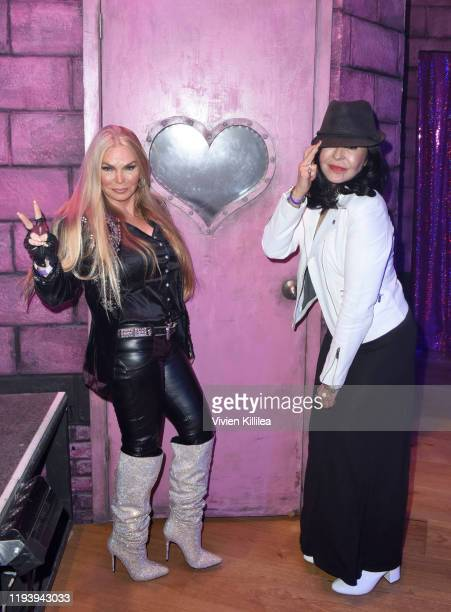 Suzan Hughes and Maria Conchita Alonso attend Opening Night Of Rock Of Ages Hollywood At The Bourbon Room at The Bourbon Room on January 15 2020 in...