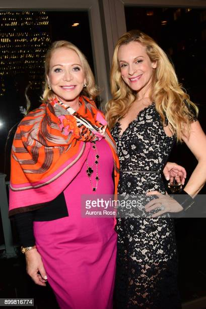 Suzan Kremer and Consuelo Vanderbilt Costin attend Tracy Stern hosts holiday party at private townhouse in Hell's Kitchen at Private Residence on...