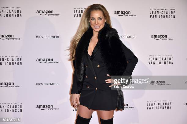 Suzann Jetzkus attends the Amazon TV series 'Jean Claude Van Johnson' Premiere at Le Grand Rex on December 12 2017 in Paris France at Le Grand Rex on...