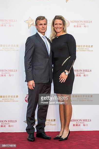 Suzann Pettersen Of Norway And Partner Christian Ringvold Arrive At The Red Carpet Welcome During The