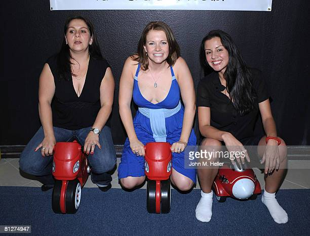 Suzanne Altman CoOwner of The Playroom Melissa Joan Hart and Pennelope Jimenez CoOwner of The Playroom attend the Playroom's first anniversary...
