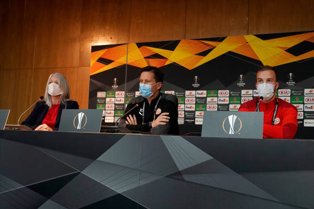 CYP: PSV Eindhoven - Press Conference And Training Session