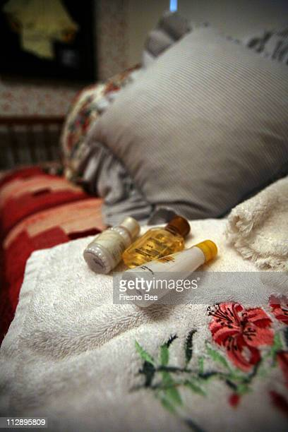 Suzanne Bishop includes small bottles of lotion shampoo and conditioner in her guest room as pictured December 5 at her Fresno California home