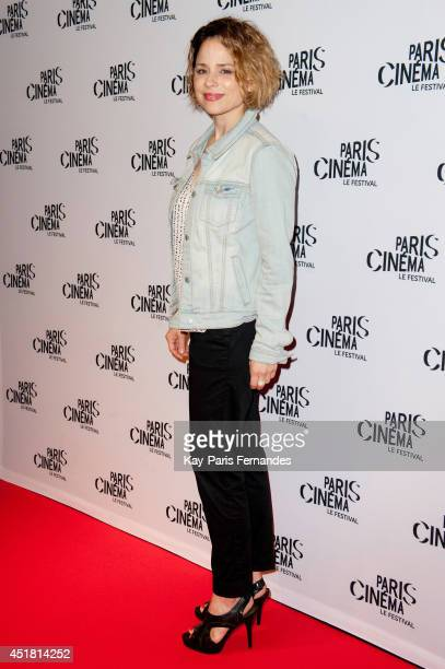 Suzanne Clement attends the Pais premiere of Cineasts on day 3 of the Fesitval Paris Cinema on July 7 2014 in Paris France