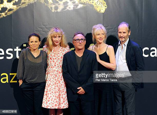 Suzanne Clement Julie Depardieu Jean Jacques Zilbermann Johanna Ter Steege and Hippolyte Girardot attend a photocall during the 67th Locarno Film...