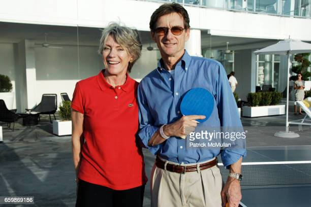Suzanne Cochran and Bob Cochran attend INTERVIEW Magazine FRED PERRY Host's Ping Pong Tournament at Mondrian Hotel on December 2 2009 in Miami Beach...
