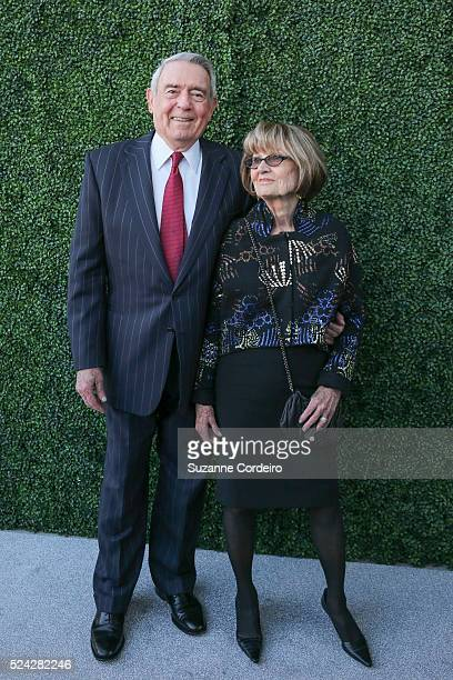 Suzanne Cordeiro / For AmericanStatesman Honoree Dan Rather and wife Jean Goebel pose on the red carpet at the Texas Medal of Arts Awards on...