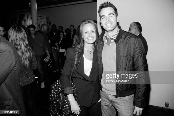 Suzanne Corn and Andrew Freesmeier attend LLBean Signature Spring 2010 Preview Party at Hosfelt Gallery on October 14 2009 in New York City