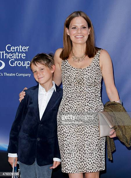 Suzanne Cryer and her son Charlie Cryer attend 'Matilda The Musical' opening night at Ahmanson Theatre on June 7 2015 in Los Angeles California