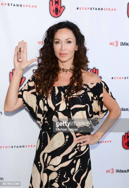 Suzanne Cryer attends iMaxAlarm pledges to #StopStandSpeak against Street Harassment at the GBK Pilot Pen Pre Awards Celebrity Lounge 2017 Day 1 on...