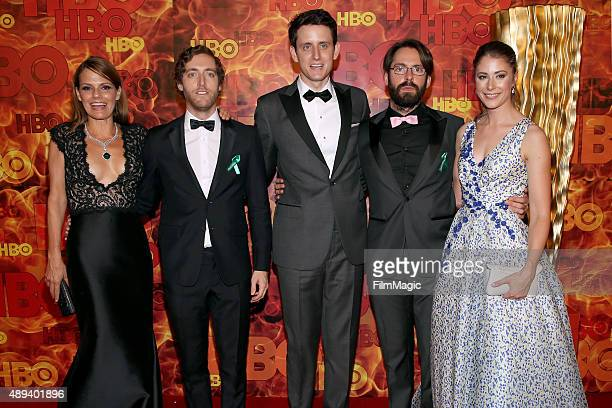 Suzanne Cryer Thomas Middleditch Zach Woods Martin Starr and Amanda Crew attend HBO's Official 2015 Emmy After Party at The Plaza at the Pacific...