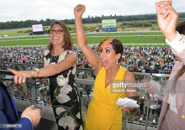 Suzanne Danielle and Saira Khan attend the King George Weekend at Ascot Racecourse on July 27 2019 in Ascot England