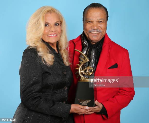 Suzanne de Passe and Billy Dee Williams pose for a portrait backstage during the 2018 American Black Film Festival Honors Awards at The Beverly...