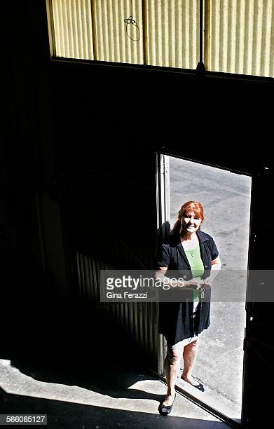 Suzanne DeRossett president and CEO of Empire Building Services stands in one of her small supply warehouses next to her Santa Ana office She has...