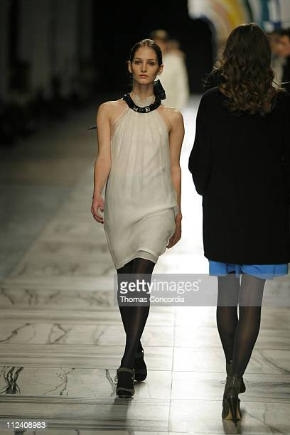 Suzanne Diaz wearing 3.1 Phillip Lim Fall 2007 during Mercedes-Benz Fashion Week Fall 2007 - 3.1 Phillip Lim - Runway at Waterfront Building in New...