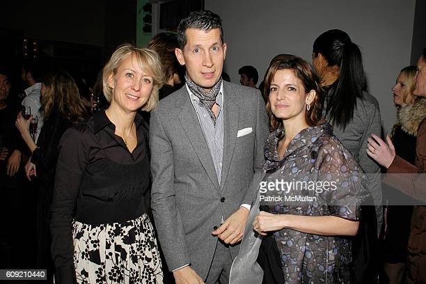 Suzanne Donaldson Stefano Tonchi and Cindi Leive attend GLAMOUR Magazine Fashion Gives Back Party at Milk Studios Penthouse on February 1 2007 in New...