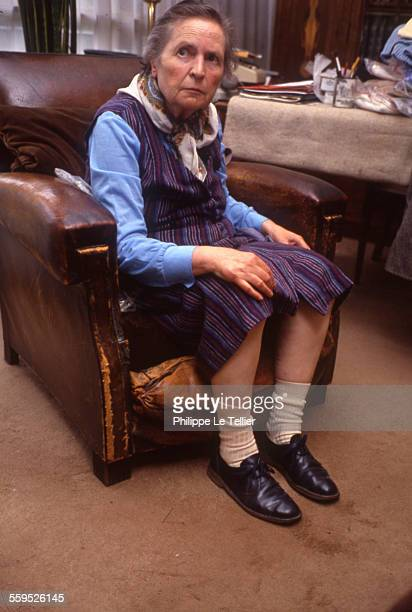 Suzanne GirerdMartin an old lady at a retirement home or hospice Rambouillet France