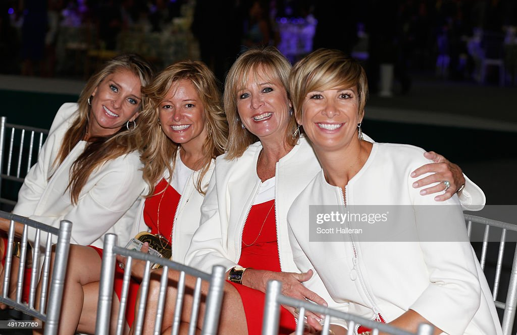 Suzanne Hannemann, Tabitha Furyk, Robin Love and Angie Watson of the United States pose for a picture during the opening ceremony of the 2015 Presidents Cup at the Convensia Ceremony Hall on October 7, 2015 in Incheon City, South Korea.