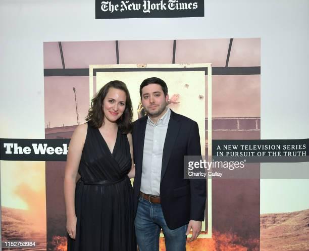Suzanne Hillinger and Brian Rosenthal attend FX and The New York Times' The Weekly event at The London Hotel on May 30 2019 in West Hollywood...