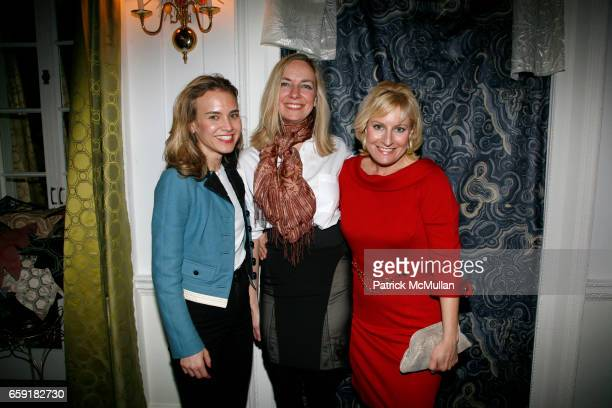 Suzanne Karotkin Jill Dryer and Christine Phillips attend NY Launch Party for The TONY DUQUETTE Textile Collection for JIM THOMPSON created by HUTTON...