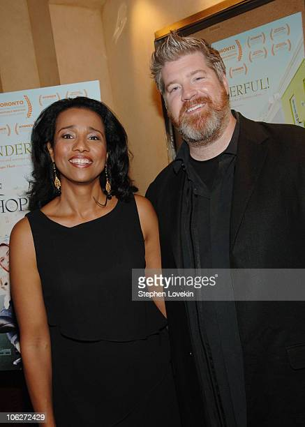 Suzanne Kay and Mark Bamford Director during The Cape of Good Hope New York City Premiere at Tribeca Screening Room in New York City New York United...