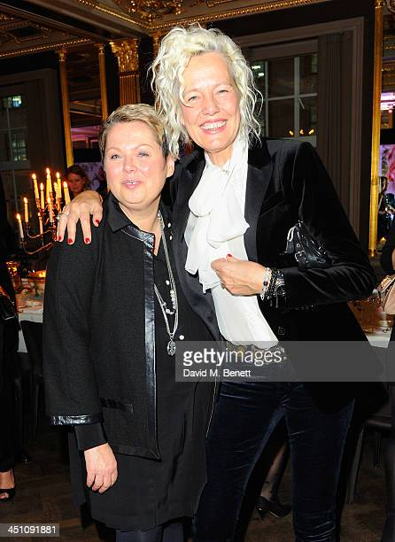 Suzanne Kolbli and Ellen von Unwerth attend the Thomas Sabo new collection Karma Beads and Sterling Silver dinner at Cafe Royal on November 21 2013...
