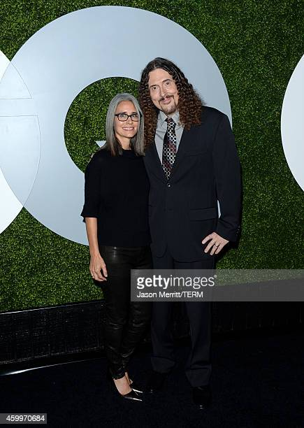 Suzanne Krajewski and recording artist 'Weird Al' Yankovic attend the 2014 GQ Men Of The Year party at Chateau Marmont on December 4 2014 in Los...