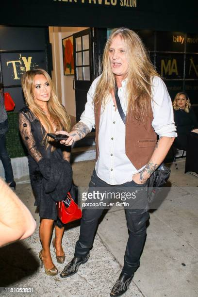 Suzanne Le and Sebastian Bach are seen on November 08 2019 in Los Angeles California