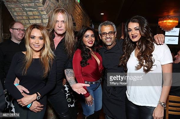 Suzanne Le Sebastian Bach Mercedes 'MJ' Javid Parind Vora and Golnesa 'GG' Gharachedaghi attend ChefDance 2015 Presented By Victory Ranch And...