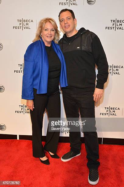 Suzanne Lloyd and DJ Z-Trip attend the 'Speedy' premiere during the 2015 Tribeca Film Festival at Spring Studio on April 22, 2015 in New York City.