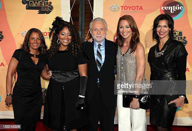 Suzanne Malveaux Lalah Hathaway Wolf Blitzer Brooke Baldwin and Fredricka Whitfield attend the Soul Train Awards 2011 at The Fox Theatre on November...