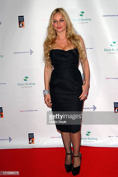 Suzanne Mizzi attends The Emeralds Ivy Ball hosted by Ronan Keating for Cancer Research UK sponsored by Anglo Irish Bank at The Old Billingsgate Fish...