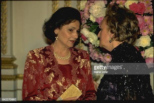 Suzanne Moubarak and Bernadette Chirac