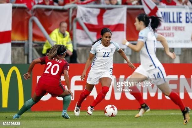 Suzanne Pires of Portugal women Alex Scott of England women Karen Carney of England women during the UEFA WEURO 2017 Group D group stage match...