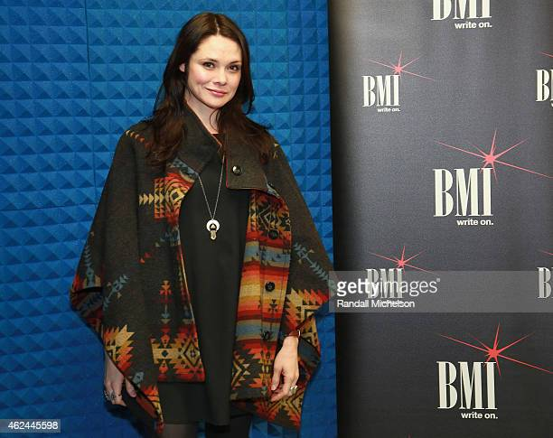 Suzanne Santo of HoneyHoney attends the BMI Snowball at Sundance House on January 28 2015 in Park City Utah