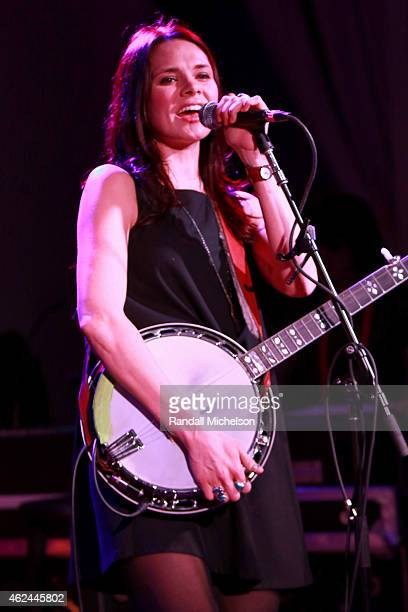 Suzanne Santo of HoneyHoney performs at the BMI Snowball at Sundance House on January 28 2015 in Park City Utah