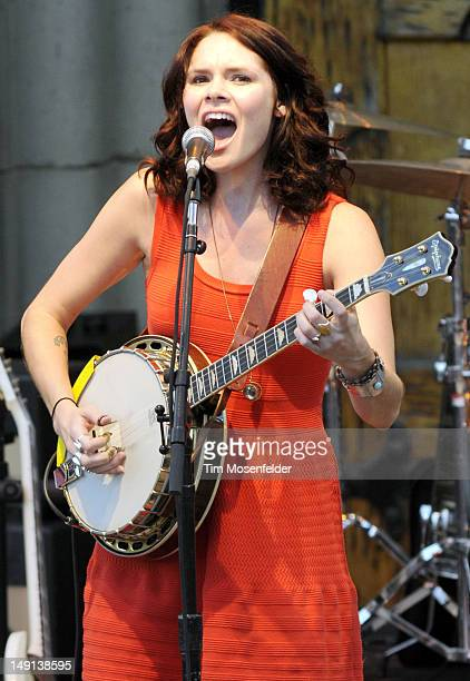 Suzanne Santo of HoneyHoney performs at the Mountain Winery on July 22 2012 in Saratoga California