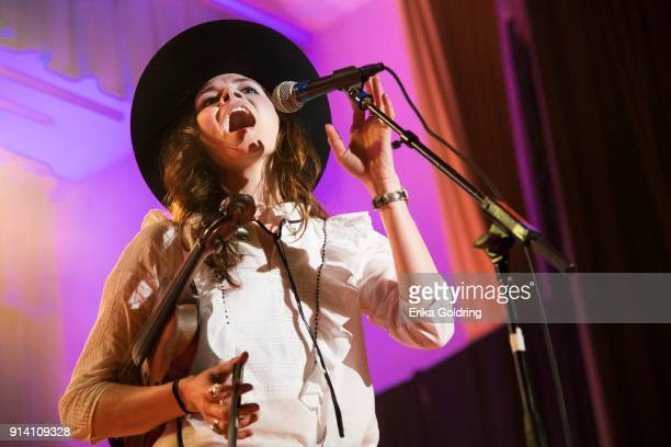 Suzanne Santo of the band Honey Honey performs during Unrigged Live presented by RepresentUs during the 2018 Unrig the System Summit at the McAlister...