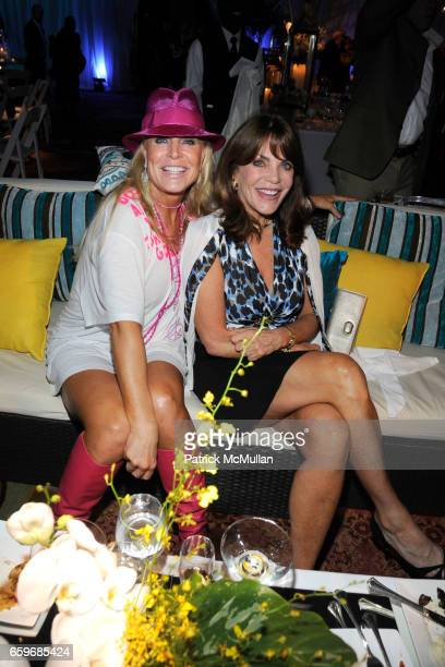 Suzanne Saperstein and Mary Milner attend LARRY and Michele HERBERT Cocktail Party at The Breakers Palm Beach on March 27 2009 in Palm Beach Florida