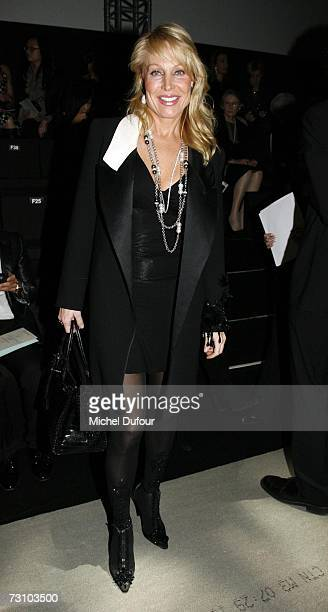 Suzanne Saperstein attends the Giorgio Armani Fashion show during Paris Fashion Week SpringSummer 2007 at Musee de l' Homme on January 24 2007 in...