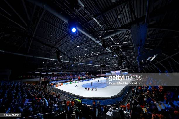 Suzanne Schulting of Netherlands competes in the Womens 1000m Final B during the ISU World Cup Short Track at Optisport Sportboulevard on February...