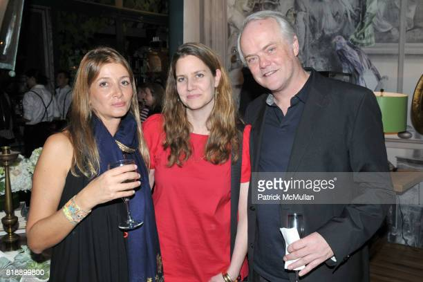 Suzanne Sharp Joan Mackeith and Barry Richards attend The RUG COMPANY Unveils New Showroom Cocktail Party at The Rug Company on May 17 2010 in New...