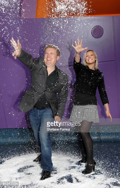 Suzanne Shaw and Aled Jones attend photocall to launch White Christmas The Musical at The Lowry on September 29 2009 in Manchester England