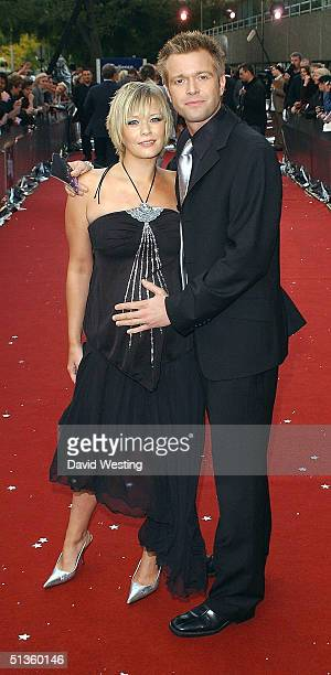 Suzanne Shaw and Darren Day arrive at the Celebrity Awards at London Television Centre on September 26 2004 in London The ceremony honours the year's...