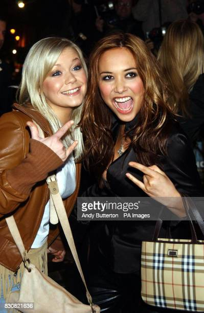Suzanne Shaw and Myleene Klass from pop group Hear'Say arriving at the Empire Cinema in London's Leicester Square for the premiere of Ali G InDaHouse